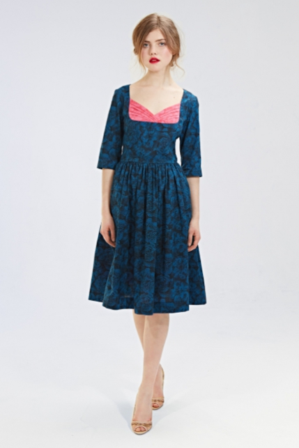 Mrs Pomeranz, collection-FW2015-2016-Norma-Dolores-blue-dress