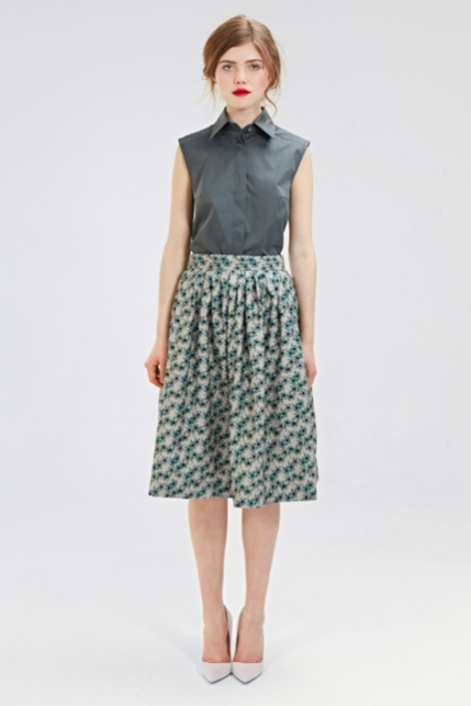 Mrs Pomeranz, collection-FW2015-2016-Dina-green-skirt